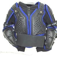 Bambini Moto Giacca Pettorina Corazza Moto da Corsa Armatura Giacca di sicurezza MX Quad Scooter Armour blu (8 Years/ M)