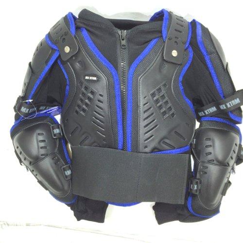 Quad Motocross Körperpanzer Motorrad Motorradjacke Motorrad KINDER Protekt Körperpanzer Motorrad 10 Jahre Blau (Bmx-brustschutz)