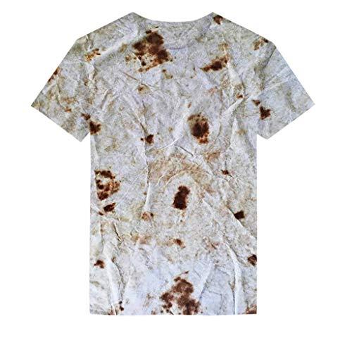 Julhold Kleinkind Baby Mädchen Jungen Mode Lässig Kurzarm Druck Burrito Tops Baumwolle T-Shirt Bluse Kleidung 1-5 Jahre