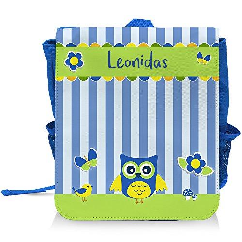 kinder-rucksack-mit-namen-leonidas-und-schnem-eulen-motiv-fr-jungen