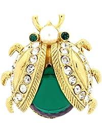Bijoux pour tous A2357 - Broche de metal con cristal