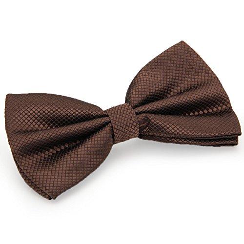 JewelryWe Herren Fliege Schleife Krawatte Binder Schlips Querbinder Anzug Hemd Bow Tie Britische Stil Kariert Verstellbar für Hochzeit Silvester Business Smoking Blau (Kaffee) Stil Bow Tie