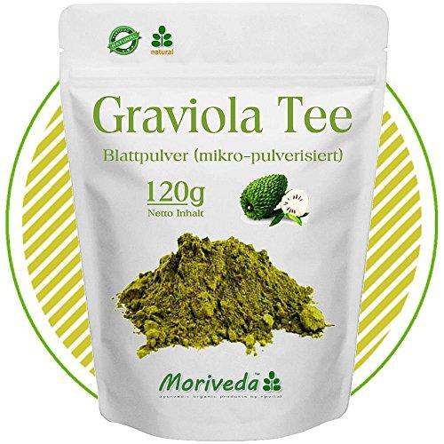 MoriVeda Graviola 120g Blattpulver Tee Sauersack Annona Muricata (1x120g Pulver)