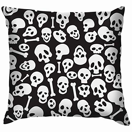 vintage cap Wrapping Paper Skuls Illustrations Clip Art Skull Transportation Throw Pillows Covers Accent Home Sofa Cushion Cover Pillowcase Gift Decorative 18X18 Inch