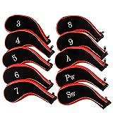 Golf Club Head Covers, lamavido Reißverschluss Schlägerkopfhüllen für Golfschläger Eisen mit austauschbaren Viel Tag für Titleist, Callaway, Ping, Taylormade, Cobra 100/Set