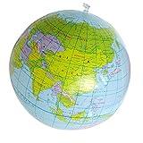 Aufblasbares Spielzeug - TOOGOO(R) Aufblasbares Spielzeug Globus Ausbildung Geographie Karte Ballon Wasserball 40 cm