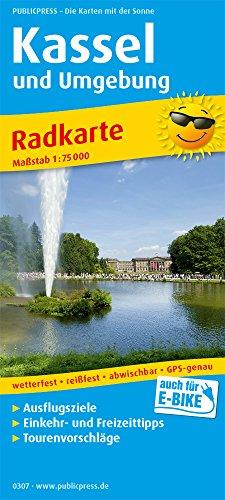 Kassel und Umgebung: Radkarte mit Ausflugszielen, Einkehr- & Freizeittipps, wetterfest, reissfest, abwischbar, GPS-genau. 1:75000 (Radkarte / RK)