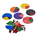 Wissner Bruchrechenteile, 10 Vollkreisteilungen zum Bruchrechnen, robust aus umweltfreundlichem RE-Plastic ®, Made in G