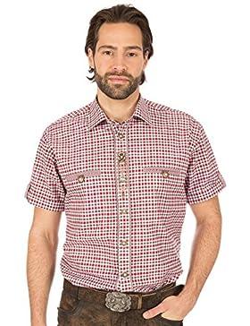 orbis Textil Trachtenhemd Halbarm Rot