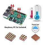 GeeekPi Raspberry Pi Kühlkörper Set, 3 Stück von Kühlkörper Kupfer Kühlung Kühlkörper mit Wärmeleitkleber Klebeband für Raspberry Pi 3/2 Modell B und Raspberry Pi 3B +(3PCS)