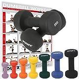 Neopren Hanteln Gewichte für Gymnastik Kurzhanteln 0,5 kg - 5 kg oder Set komplett (2 x 5 kg)