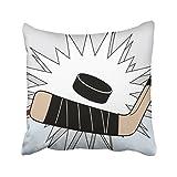 Kutita 45,7x 45,7cm–Federa, hockey design modello double-face divano cuscino divano letto federa casa regalo decorativo con cerniera nascosta in cotone e poliestere