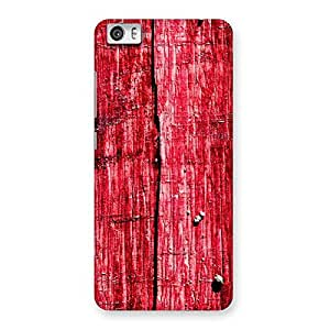 Stylish Red Fenced Print Back Case Cover for Xiaomi Redmi Mi5