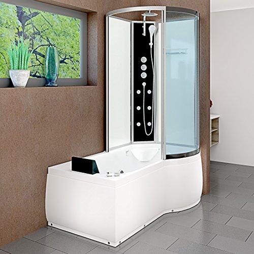 AcquaVapore DTP8050-A006L Whirlpool Wanne Duschtempel Dusche Duschkabine 170x98, EasyClean Versiegelung der Scheiben:2K Scheiben Versiegelung +79.-EUR