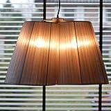 lounge-zone Design Pendelleuchte Leuchte Hängelampe Hängeleuchte Pendellampe Deckenlampe Deckenleuchte Lampe Leuchte TRIPLE Lampenschirm Organza grau 3 Schirme Plissee Bauhausstil Wohnzimmer 7858