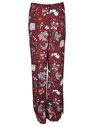 Diane Von Furstenberg Pantaloni ampi in misto seta 10933