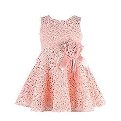 Rosennie Girls Kids Lace Floral One Piece Dress Child Princess Party Dress