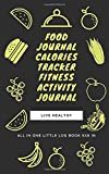 Food journal meals log book calories tracker daily diet follow up: All in one little book Size 5 x 8 in.  - 100 Pages with custumized interior (like sample in back page)