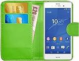 G-Shield Hülle für Sony Xperia Z3 Klapphülle mit Kartenfach - Grün