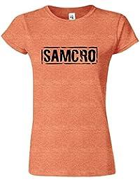 Samcro Frauen Damen Mädchen passten T-Stück T-Shirt Sweatshirt Top Neues Design Classic Neck Tee T-Shirt S M L XL XXL Viele Farben & Größen erhältlich von SnS apparel