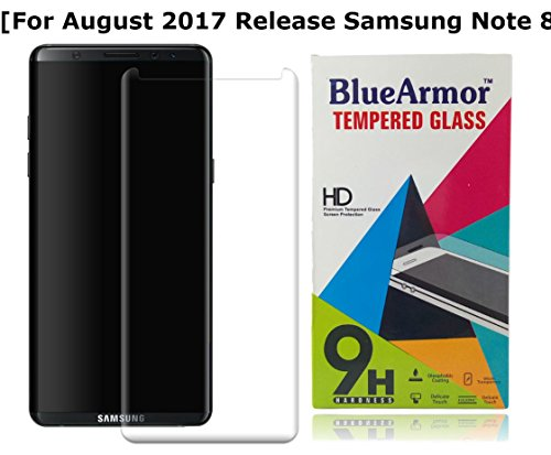 BlueArmor Samsung Galaxy Note 8 Tempered Glass 3D Curved Edges Premium Quality Screen Guard Protector [ For August 2017 Release Samsung Galaxy Note 8 ] – Clear