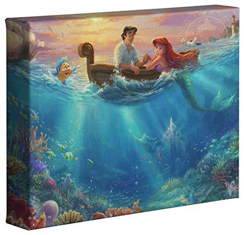 Thomas Kinkade Studios Disney Little Mermaid Falling in Love 20,3x 25,4cm Galerie Verpackt Leinwand