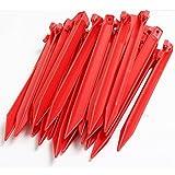 Yahee 30 x Kunststoff Heringe 30cm Zeltheringe Zelt Nagel für Outdoor Camping Zelte Garten Erdnagel rot