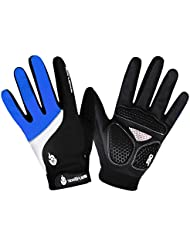 LianLe-Bike Wear Power WindStopper Soft Shell - Guantes de ciclismo para hombre?viajero,color rojo/azul/negro ,M/L/XL