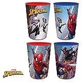 Spiderman Trinkbecher 4er Set II [Kunststoff]