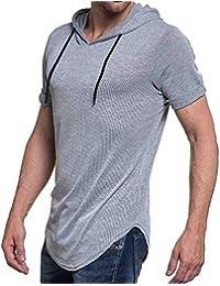 Celebry tees - Tee-shirt fluide gris clair chiné oversize à capuche