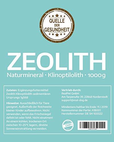 Reines Zeolith Klinoptilolith PULVER – 1000g - Made in Germany - geprüfte Premiumqualität - extra fein gemahlen