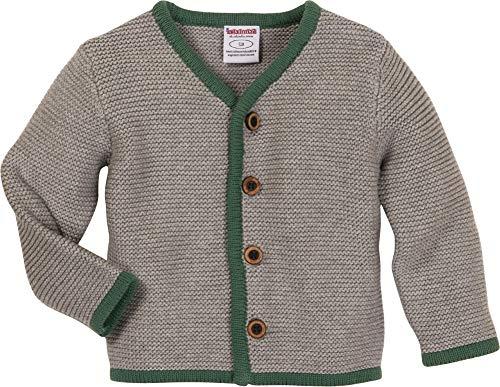 Schnizler Baby-Jungen Strickjacke Strickjanker mit Knopfleiste, Grau (Grau 33), 86 - Kinder Sweatshirt Strickjacke