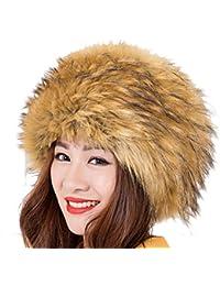 Modelshow Invierno Mujeres Moda Estilo de Rusia Gorra Redondo Piel  Sintética Sombrero Gorro Para Esquí 3ac78e8353be