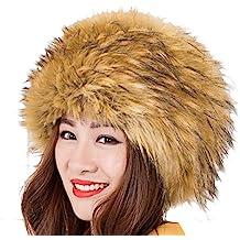 Modelshow Invierno Mujeres Moda Estilo de Rusia Gorra Redondo Piel Sintética Sombrero Gorro Para Esquí