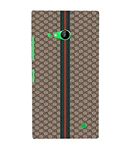 Nokia Lumia 730 Dual SIM :: Nokia Lumia 730 Dual SIM RM-1040 red line, green line, brown pattern background Designer Printed High Quality Smooth hard plastic Protective Mobile Case Back Pouch Cover by Paresha