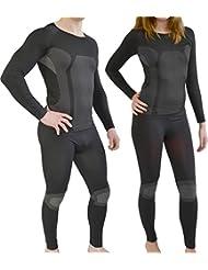 Sport Funktionswäsche Garnitur (Hose + Hemd) für Damen und Herren - Ski Unterwäsche mit Elasthan von normani®
