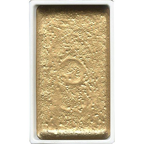 Kuretake - Colore acquerello in panetto grande, Gansai Tambi Japanese, colore: oro