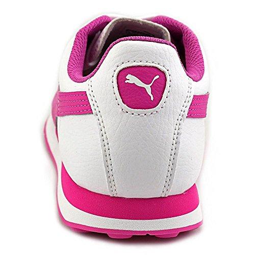 Puma Turin Hommes Cuir Chaussure de Course White-Phlox Pink