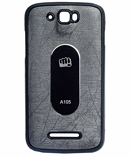 iCandy™ Soft Leather Finish Back Cover For Micromax Canvas Entice A105 - GREY  available at amazon for Rs.190