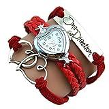 One Direction Heart Watch Charm Bracelet...