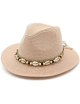 HHQWERW La Mujer, Suncap Sombrero De Paja, La Primavera Y El Verano La Tapa De Aire,Rosa Desnuda
