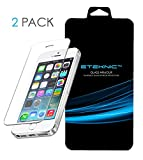 Best Iphone 5c Screen Protectors - iPhone SE Screen Protector, eTEKNIC [2-Pack][Glass Armour] Premium Review