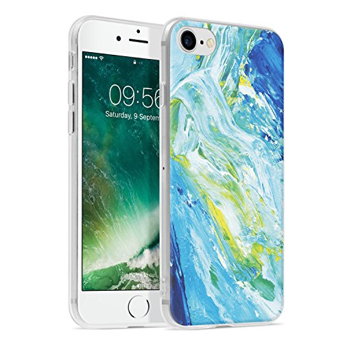 Ayotu iPhone 6 6s Case,Ultra Light Slim Case with Anti-Scratch Shockproof Bumper Soft TPU Silicone Frame Protective Phone Case Cover Skin for Apple iPhone 6/6s (4.7-inch)-The Green Leaves The Oil Painting