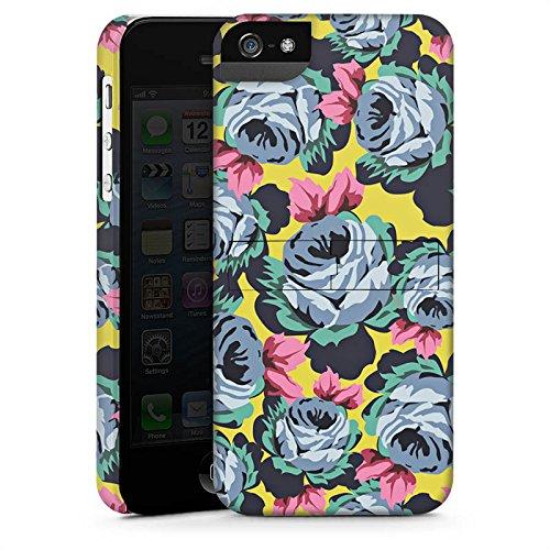 Apple iPhone X Silikon Hülle Case Schutzhülle Rosen Blumen Muster Premium Case StandUp
