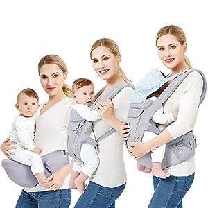 Mochila Portabebés Ergonómico, Portador de Bebé Multifuncional transpirable 4 en 1 para Recien Nacido al 36 Meses Niños…