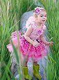 Great Pretenders Deluxe Kleid Blumenfee pink mit Flügeln Kinderkostüm 3-4 Jahre