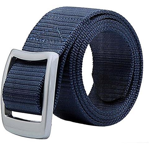 Malloom Hebilla de correa de la cintura normal cintura cinturón unisex (azul)
