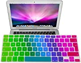 """EU/UK Macbook keyboard Dust Covers, Rainbow Pride Colorful Silicone Rubber Keyboard Skin Cover (EU/UK Layout) for Macbook Pro 13"""" 15"""" and 17"""" (Colorful)"""