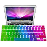 "EU/UK Macbook keyboard Dust Covers, Rainbow Pride Colorful Silicone Rubber Keyboard Skin Cover (EU/UK Layout) for Macbook Pro 13"" 15"" and 17"" (Colorful)"