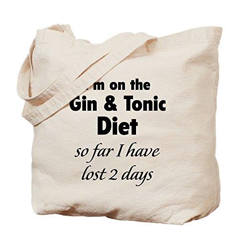CafePress Gin & Tonic Diet-Tasche, canvas, khaki, M (Fett Gin)